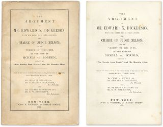 The Argument of Mr. Edward N. Dickerson, With His Notes and. Trial, Sickels, v Corliss, E. N....
