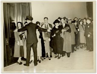 "7"" x 9"" Photograph of People Waiting in Line to See Darrow Testify. Clarence Darrow"