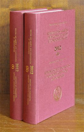 Reports of Judgments, Advisory Opinions and Orders. 2012 (2 books). International Court of...