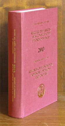 Reports of Judgments, Advisory Opinions and Orders. 2013 (1 book). International Court of...