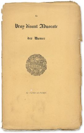La Vray Disant Advocate des Dames. Jean Marot, Attributed, Laurent Belin, Attrib