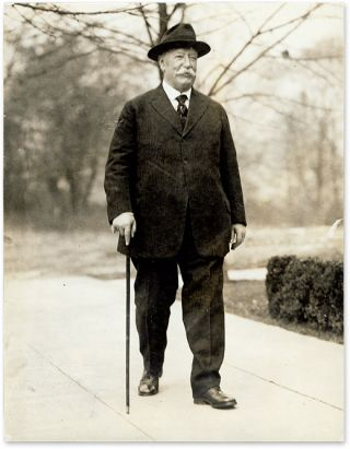 "6-1/2"" x 8-1/2"" Black-and-White Press Portrait Photograph of Taft. William Howard Taft."