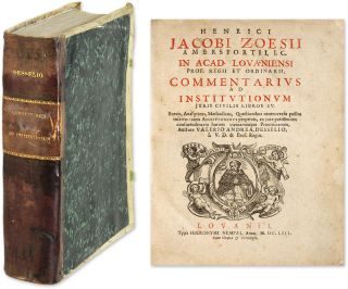 Commentarius ad Institutionum Juris Civilis Libros IV, Brevis. Hendrik Zoes, Valerius Andreas