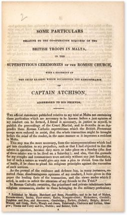 Trial of Captain Thomas Atchison [Bound with Seven Other Pamphlets].