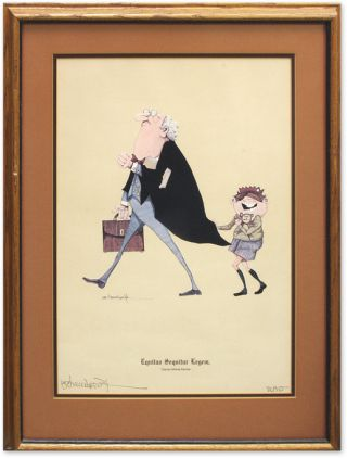 Equitas Sequitur Legem (Equity Follows the Law), Framed Lithograph. G. R. Cheesebrough