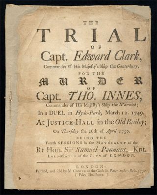The Trial of Capt. Edward Clark, Commander of His Majesty's Ship. Trial, William Clark, Defendant