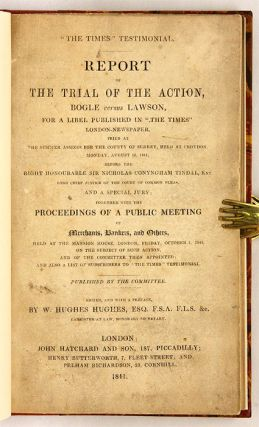 Report of the Trial of the Action, Bogle Versus Lawson, For a Libel...