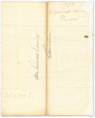 1827 Autograph Letter Signed,To Edward Everett, With Everett's...