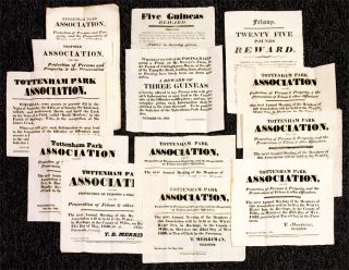 Collection of Printed Broadsides Relating to the Establishment and...