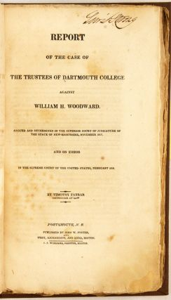 Report of the Case of the Trustees of Dartmouth College... [1819] 1st