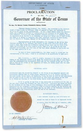 Conditional Pardon for Florence Murphy from a Conviction of. Texas, Florence Murphy.