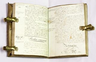 French Manuscript on Procedure, Rennes, France, 1821.