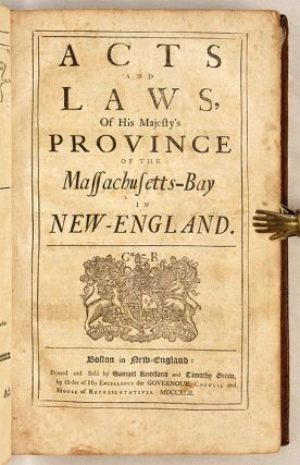 The Charter Granted by Their Majesties [With] Acts and Laws, 1742.