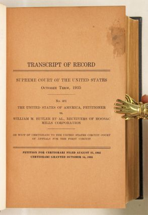 United States of America, Petitioner v William M Butler, Et Al...
