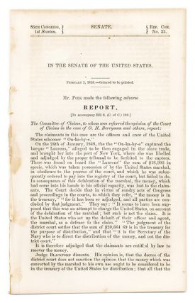 In the Senate of the United States. February 1, 1858, Ordered. Slavery, United States