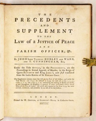 The Precedents and Supplement to the Law of a Justice of Peace...