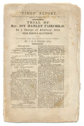 Trial of Rev Joy Hamlet Fairchild, On a Charge of Adultery with Miss. Trial, Joy Hamlet Fairchild