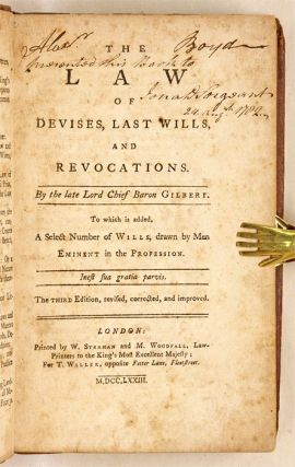 The Law of Devises, Last Wills, And Revocations, To Which is Added...