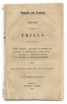 Assault and Battery, Report of the Trials of the Causes of Elisha. Trials, Solomon Van...