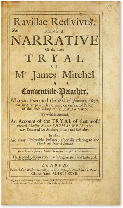 Ravillac Redivivus, Being a Narrative of the Late Tryal of Mr. James.
