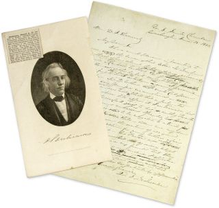 Draft Autograph Letter Signed to 1849 California Constitution. Manuscript, Daniel S. Dickinson, W. Sherwood.