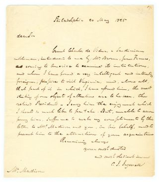 Letters from Ingersoll to James Madison and Others