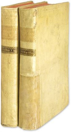 Opera Omnia in Pluros Tomos Distributa, two volumes, Naples, 1770. Alberico Gentili.
