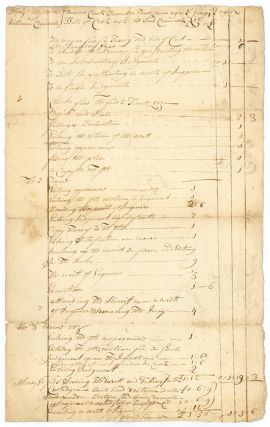 Bill for Court Fees, Signed, Albany, NY, January 9, 1728. Manuscript, Rutger Bleecker