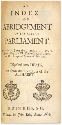 The Laws and Acts of Parliament Made by King James the First [With]...
