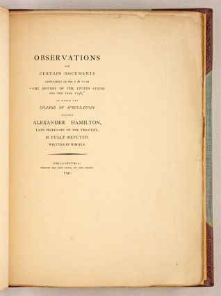 Observations on Certain Documents Contained in No V and VI of...
