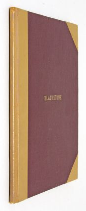A Discourse on the Study of the Law; Being an Introductory Lecture. Sir William Blackstone.