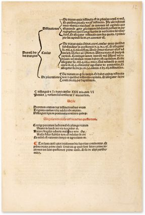 Decretum. 1493. Commentary by Bartholomaeus Brixiensis and Johannes...
