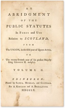 An Abridgment of the Public Statutes in Force and Use Relative to...