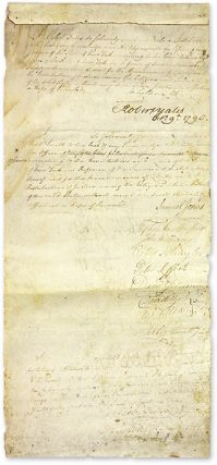 Signed Oath of Office as Chief Justice of the State of New York, 1790. Manuscript, Robert Yates