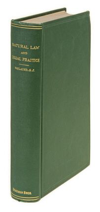 Natural Law and Legal Practice. Rene I. Holaind.
