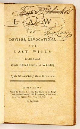 The Law of Devises, Revocations, and Last Wills To Which is Added...