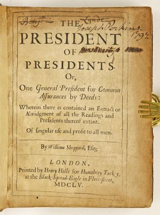 The President of Presidents, Or, One General President for Common...