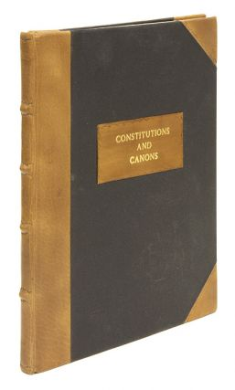 Constitutions and Canons Ecclesiastical. London, 1640. Church of England