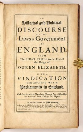 An Historical and Political Discourse of the Laws and Government...