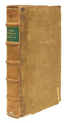 The Second Part of the Institutes of the Lawes of England, 1st Ed. Sir Edward Coke, Magna Carta