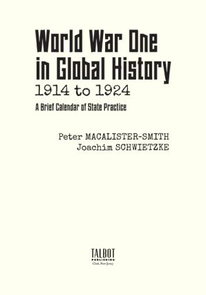 World War One in Global History 1914 to 1924