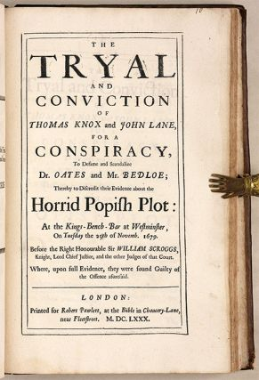 The Tryal of William Stayley [bound with] 11 Related Trials, 1678-80.