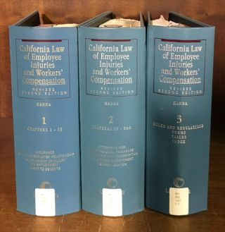 California Law of Employee Injuries and Workers' Compensation. 3 Vols. Warren L. Hanna