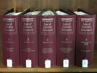 New Appleman Law of Liability Insurance 2nd ed 5 Vols Rel 117/Dec 2017. LexisNexis
