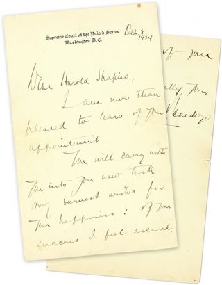 """Autograph Letter, Signed [with] 6"""" x 8"""" Black-and-White Photograph."""