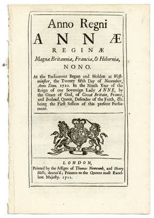 An Act for the Preservation of White and Other Pine-Trees Growing. Great Britain, Parliament, American Colonies.