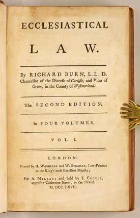 Ecclesiastical Law, Second Edition, London, 1763.