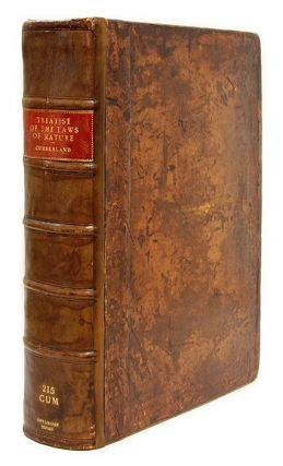 A Treatise of the Laws of Nature, Made English from the Latin by. Richard Cumberland.
