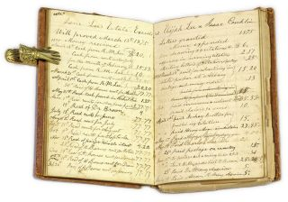 Account Book as Executor of the Estate of Thomas Rathbone Lee.
