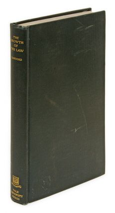 The Growth of the Law, Inscribed by Cardozo. Benjamin N. Cardozo